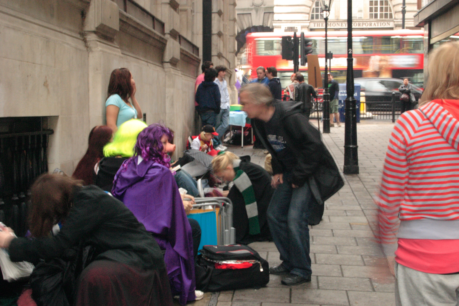 People queueing up for the Harry Potter book launch in London.
