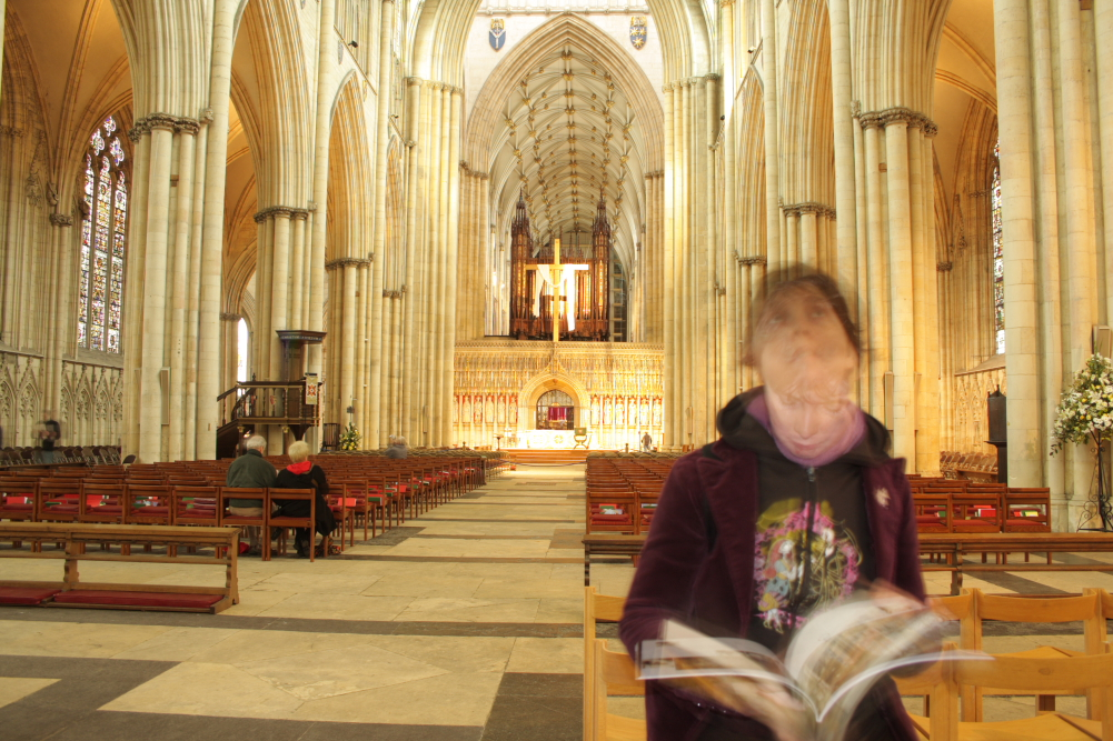 Anna inside York Minster Cathedral