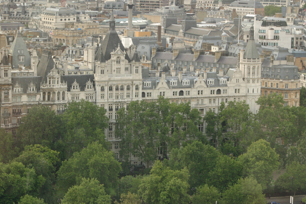 Buildings on Victoria Embankment taken from the London Eye