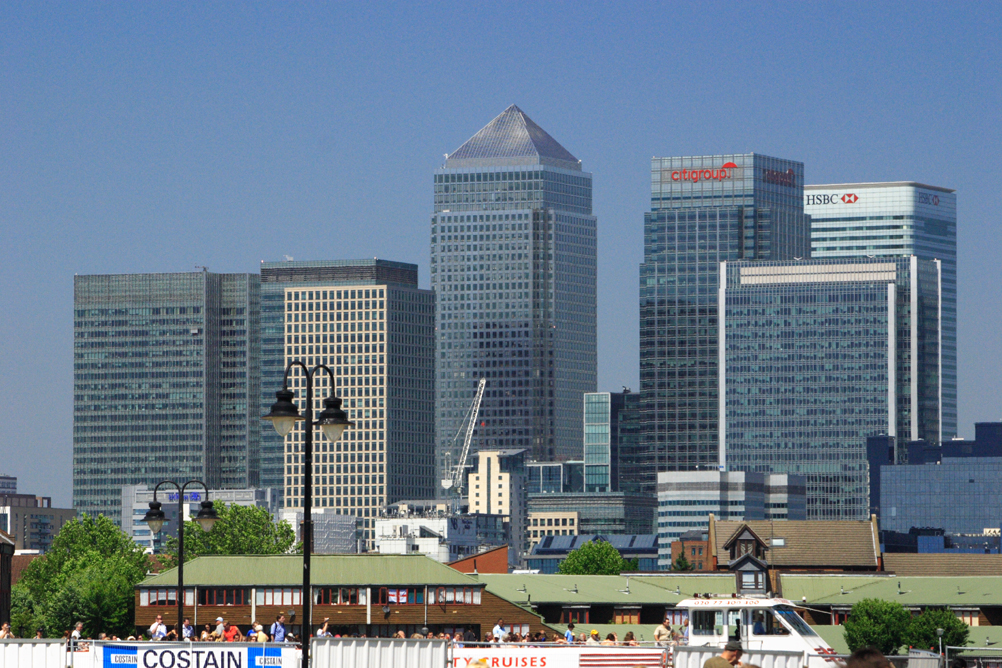 Canary Wharf as seen from Greenwich